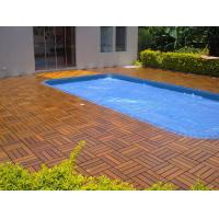 Quality High-end Garden Outdoor IPE Decking Tiles for Hotel or Private Swimming Pools for sale