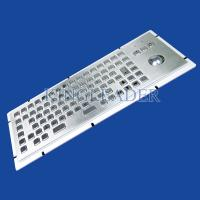 Quality 86 Keys IP65 Rated Stainless Steel Industrial Kiosk Keyboard With Trackball for sale