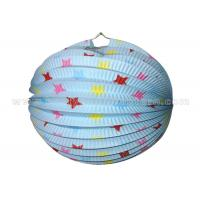 Wholesale Star Design hanging paper lanterns with lights , white round paper lanterns from china suppliers