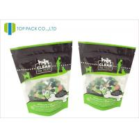 Wholesale Glossy Finished Pet Food Packaging / foil stand up zip pouch Clear Window from china suppliers