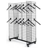 Wholesale Commercial Retail Display Racks Gridwall Fixtures With Wheels 7 Ball Waterfall Hooks from china suppliers