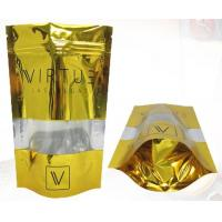 Wholesale Gold Orangic Food Metalized Resealable Stand Up Ziplock Bags PET / PETVM / PE from china suppliers