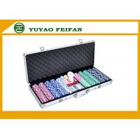 Quality 500 Ct Striped Dice 11.5 Gram Poker Chips Sets W / Aluminum Case for sale
