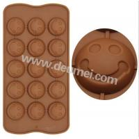 Wholesale Funny Design Food Grade Smile Face Mini Silicone Chocolate Mold Great For Children from china suppliers