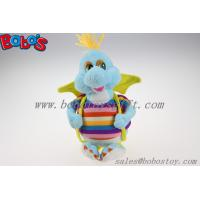 "Wholesale 10""Cute Blue Cartoon Stuffed Dinosaur Plush Toy With Colorful Overalls from china suppliers"