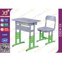 Wholesale Adjustable Metal Student School Table And Chairs With Skid Resistance Legs from china suppliers