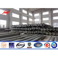 Wholesale 230kv 3mm Thickness Tubular Steel Pole With Prestressed Anchor Bolt Accessories from china suppliers