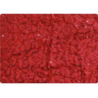 Wholesale Red Lightweight Lace Overlay Fabric Home Decorator Fabric Cloth from china suppliers