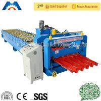Wholesale Fastness Metal Roofing Glazed Tile Roll Forming Machine With Single Chain Drive from china suppliers