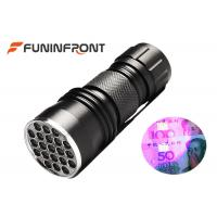 Buy cheap 21 leds 395NM LED UV Flashlight Using aaa Battery for Currency Detecting from wholesalers