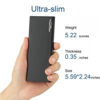 Ultra Slim 6000mAh Power Bank,Yiwerder External Portable Charger Battery Backup Pack For Smartphones & Tablets