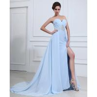 China Light Blue Sexy summer long Party Dresses for Women , aline prom dresses on sale