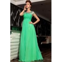 Wholesale China Evening Dress /2014 Modest Short Sleeve Green Evening Dress from china suppliers