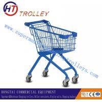 Wholesale Blue Supermarket Children Shopping Cart Powder Plated Customized from china suppliers