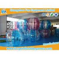 Quality TPU Inflatable Bubble Ball , 1.5m Bumper Human Body Zorb Football for sale