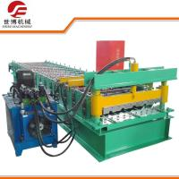 Wholesale Green 380V Trapezoidal Sheet Roll Forming Machine With Hydraulic Drive System from china suppliers
