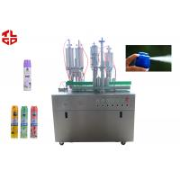 Wholesale Pneumatic Control Air Freshener Filling Machine , Spray Can Filling Machine from china suppliers