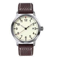 Wholesale Stainless Steel Ladies Fashion Watches With Genuine Leather Band , 5ATM Water Resistant from china suppliers