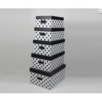 Wholesale Black White Handmade High Gloss Gift Boxes Recetangle with Flushed Lid from china suppliers