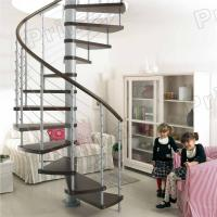 Wholesale PVC Handrail Solid Wood Spiral Staircase from china suppliers