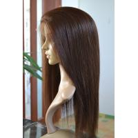 Wholesale Beautiful Natural Looking Silky Straight Indian Remy Hair Hand Tied Full Lace Wig from china suppliers
