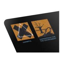Wholesale 25mm Diameter Triangle Shrink Sleeve Labels Transparent Stickers / Tactile Warning Labels from china suppliers