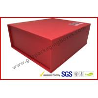 Wholesale Red special paper Magnetic Luxury Gift Boxes with silk paper tray from china suppliers