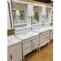 Wholesale Floor Mounted PVC Bathroom Washbasin Cabinet With Painting ISO Standard 80cm from china suppliers