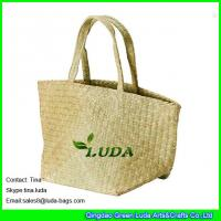 Wholesale nautical seagrass straw beach bag foldable extra large beach bag from china suppliers