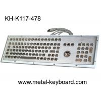 Wholesale Stainless steel Industrial Computer Keyboard with Trackball , Dust Proof Keyboard from china suppliers
