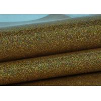 Wholesale Synthetic Mirror Leather Glitter Fabric Roll / Gold Glitter Fabric 0.4mm Thickness from china suppliers
