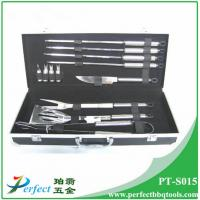 Wholesale Stainless steel bbq grilling tool set 12 pcs stainless steel bbq utensil from china suppliers