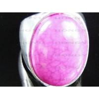 Wholesale Fashional zinc alloy pink gemstone ring from china suppliers