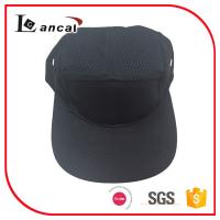 Wholesale Adjustable Baseball Caps Hats , Mens black cotton mesh snap 5 panel cap from china suppliers