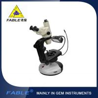 Wholesale clear and wide visual field Generation 2nd  Swing arm type Gem Microscope With F12 Trinocular lens from china suppliers