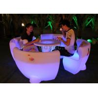 Wholesale Outdoor Furniture Plastic Illuminated Led Bar Chair for Coffee , Beer Rooms from china suppliers