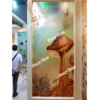 Wholesale Engraved Decorative  Glass Partition Wall from china suppliers