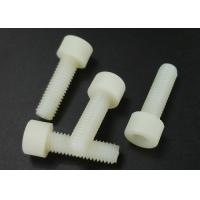 Quality Hex Socket M5 X 30 Cup Head Screws White Plastic PA 66 Flat Point UL94V-2 for sale