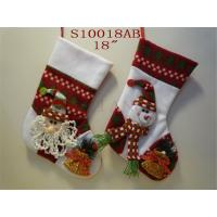 Wholesale Christmas boots decoration funny design fabric Christmas stocking from china suppliers