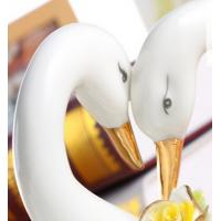 Wholesale Household handicraft commercial Ceramic lovers swan of fruit sugar plate from china suppliers