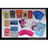 Wholesale High quality horizontal vertical clear soft PVC colors printing ID card holder cute pouch from china suppliers
