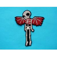 Wholesale Skeleton Angel Wings Iron On Patch Day of the Dead from china suppliers