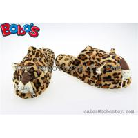 Wholesale Men Shoes Plush Stuffed Leopard Microwave Flaxseed and Lavender Slipper from china suppliers