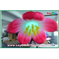 Wholesale 1.5m Diameter Inflatable Lighting Decoration Flower / inflatable Flower Lighting from china suppliers