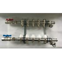 Buy cheap S S 304 On Sliver Color Bleeding Underfloor Heating Manifold / Brass Water Manifold from wholesalers