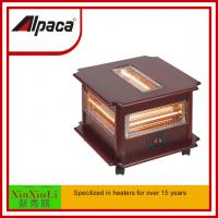 Wholesale infrared radiant quartz heater SYH-1210B 2500W electric heater for room indoor saso/ce/coc certificate Alpaca Wooden from china suppliers