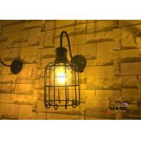 Wholesale MASO Bird Cage Retro Style Wall Lamp Black Color Finished American Favor Model Metal Material With Edison G80 Globe Bulb from china suppliers