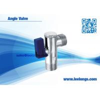 Wholesale Polished Chromed Brass Angle Valve Toilet With Plastic Blue Handle from china suppliers