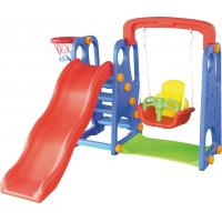 Wholesale CE standard kindergarten kids toys indoor plastic slide with swing set from china suppliers