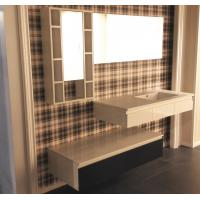 Buy cheap Floating Vanity Big Mirror Bathroom Vanity Cabinets Quartz Stone Countertop from wholesalers